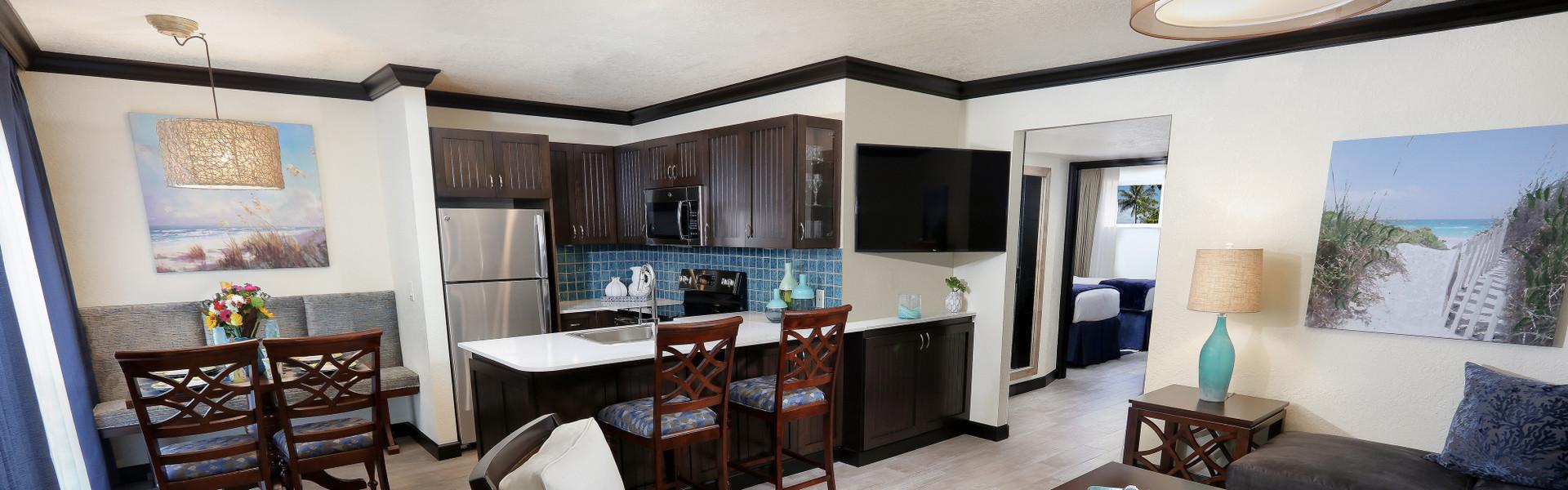 2 Bedroom Suites at Cocoa Beach Oceanfront Hotel near Cocoa Beach and Westgate Cocoa Beach Pier