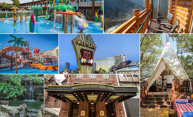 Collage of various Westgate properties - Westgate Resorts