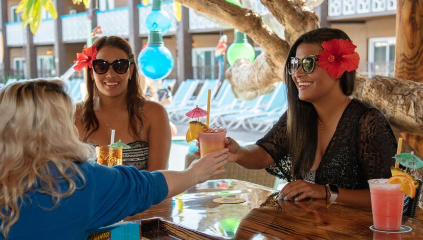 Friends at the Aloha Tiki Bar | Westgate Cocoa Beach Resort