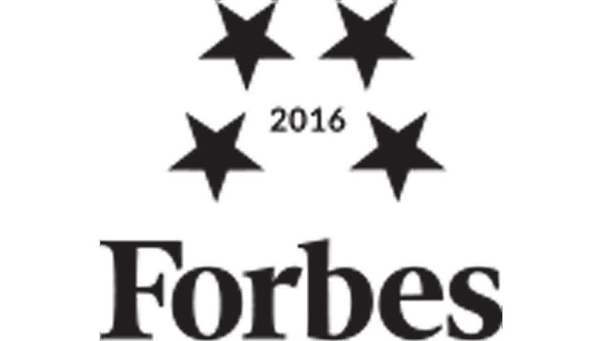 2016 Forbes Travel Guide Award