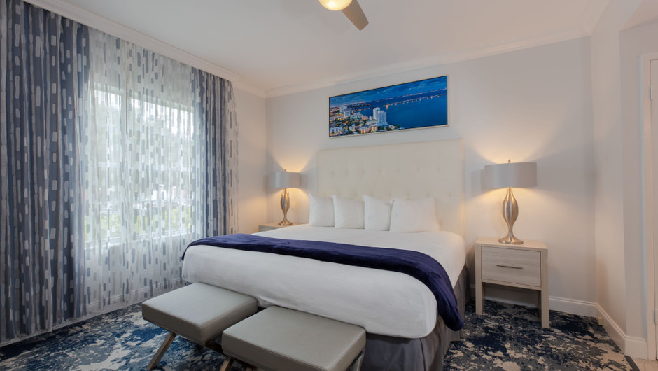 Bedroom in Two-Bedroom Villas at our Miami Beach oceanfront resorts | Westgate South Beach Oceanfront Resort | Westgate Resorts