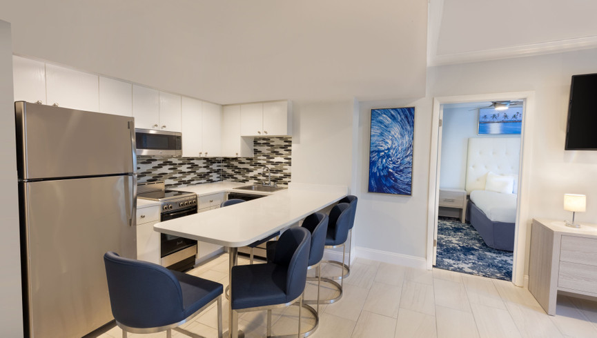Kitchen Area in Two-Bedroom Villa | Westgate South Beach Resort