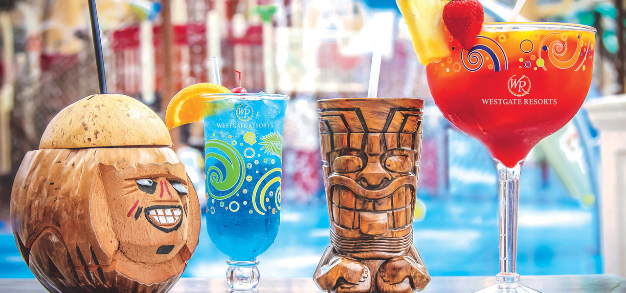 Poolside bars at the Island Water Park Resort | Westgate Town Center Resort & Spa | Westgate Resorts