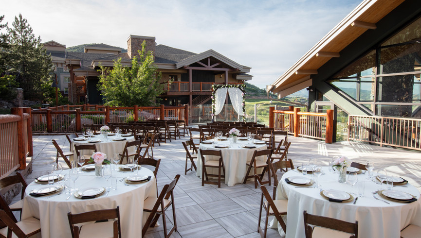 Meeting Space For Weddings and Groups at our Utah Hotel and Ski Resort | Outdoor Wedding Space