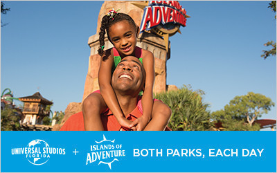 Father and daughter at Universal's Islands of Adventure