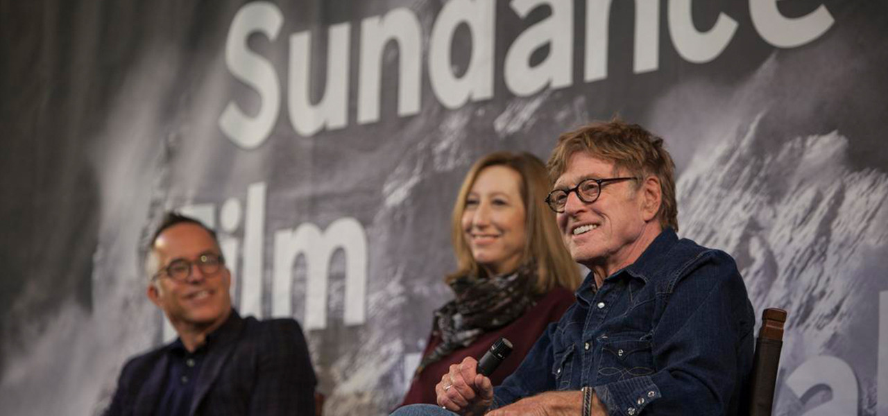 The Best Hotel In Park City For Sundance Film Festival - Panelists with celebrity Robert Redford
