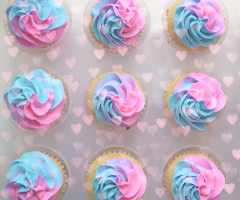 Gender Reveal Parties In Park City - Pink and Blue Cupcakes