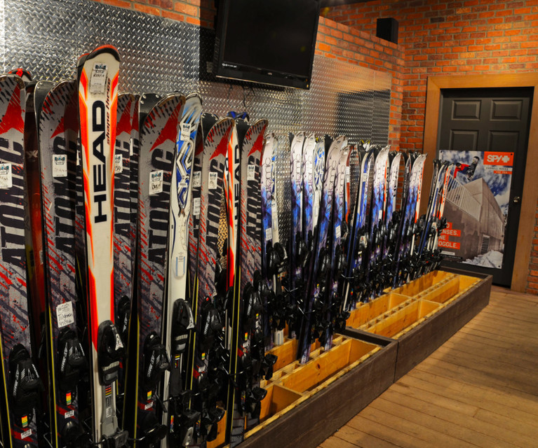 Park City Ski Club Outings & Events - Skis lined up
