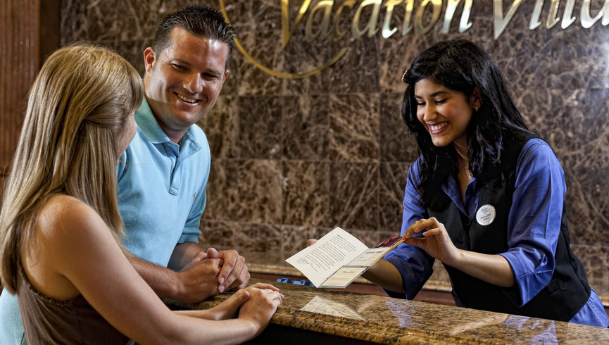 Couple Checking Into Westgate Resorts