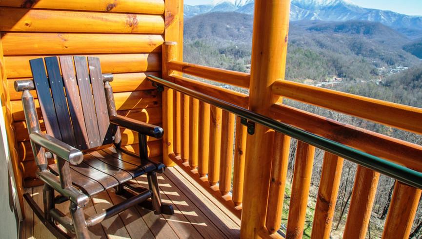 Balcony overlooking the Gatlinburg Smoky Mountains - Westgate Smoky Mountain Resort