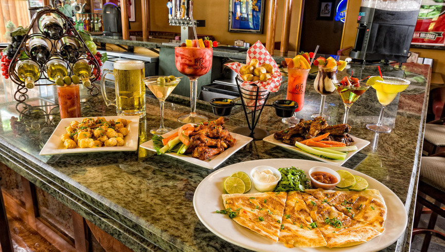 Various food and drink items on the bar - Westgate Smoky Mountain Resort