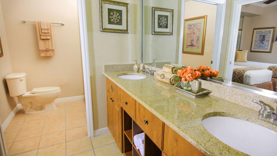 Master Bathroom   Two-Bedroom Deluxe Villa   Westgate Palace Resort   Orlando, FL   Westgate Resorts