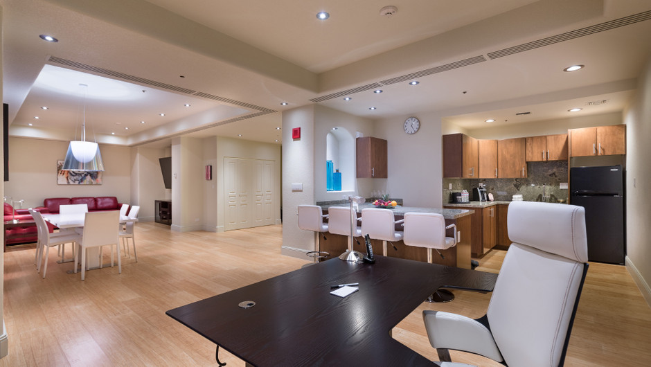 Dining/Kitchen/Living Area in the Desert Suite - Westgate Las Vegas Resort