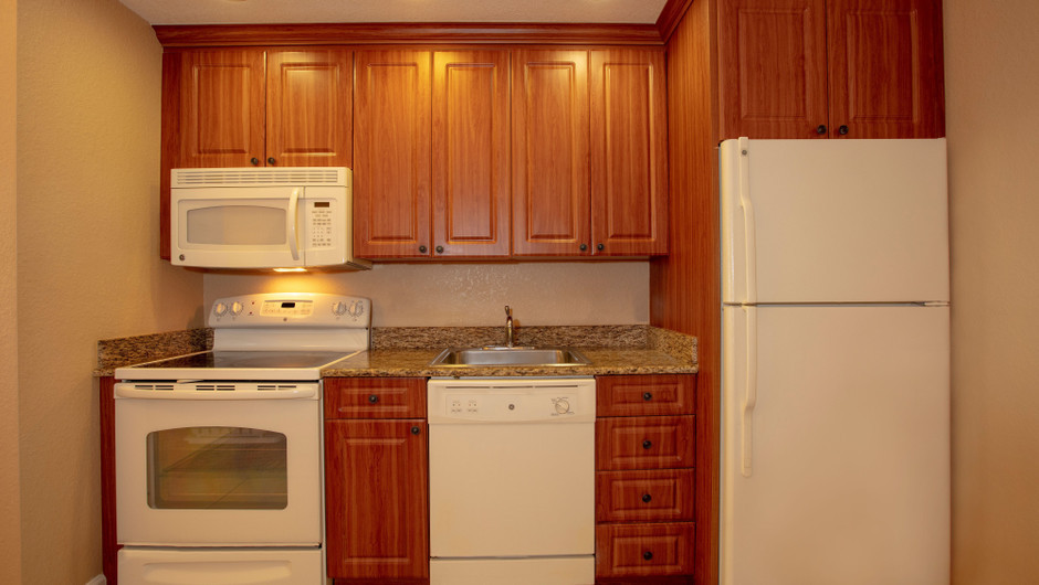 Kitchen Area in our One Bedroom Deluxe Villa - Westgate Town Center Resort