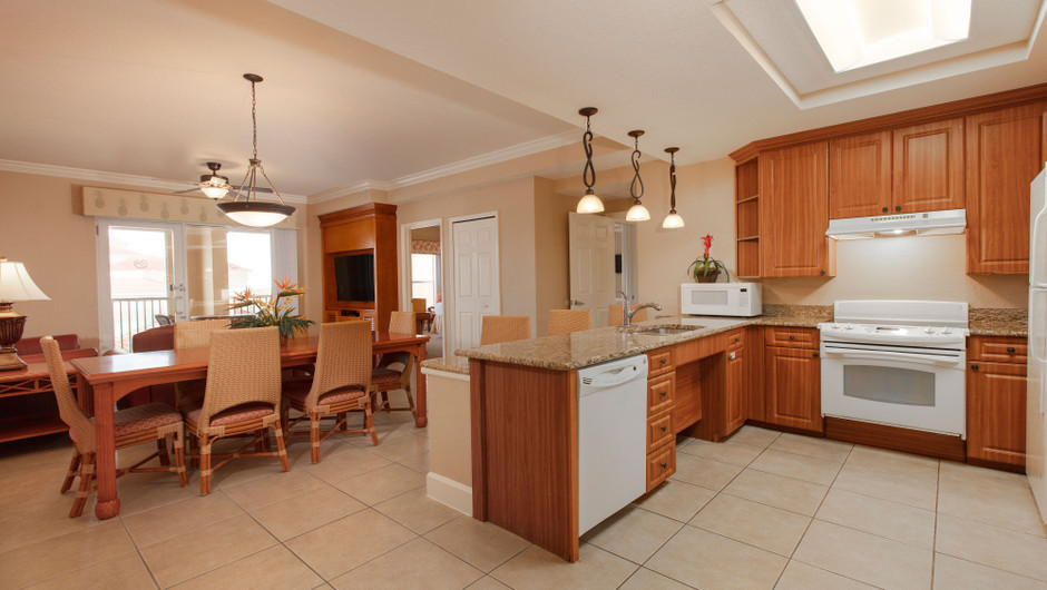 Kitchen/Dining Area in our One Bedroom Grand Villa - Westgate Town Center Resort
