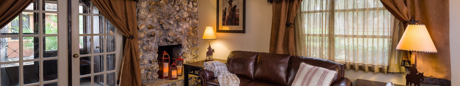 Living room in One-Bedroom Lodge - Westgate River Ranch