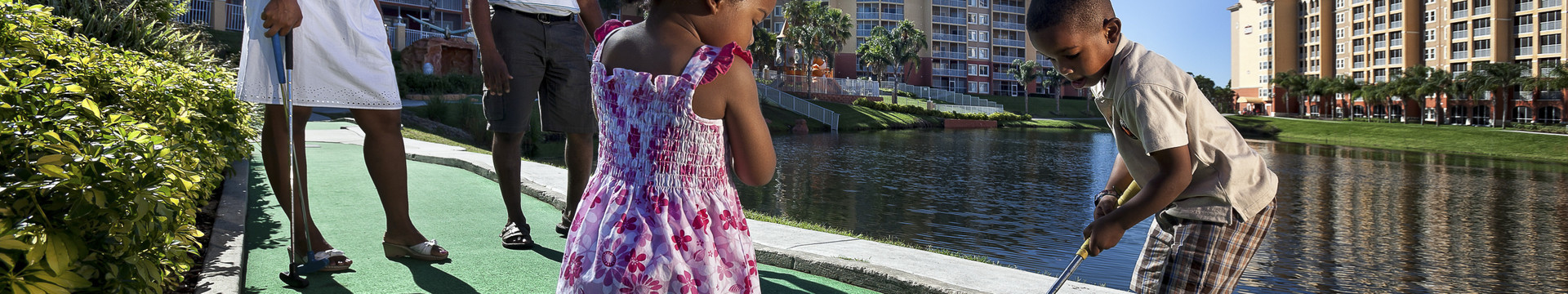 Mini Golf in Kissimmee, FL near Disney World | Family Playing Mini Golf