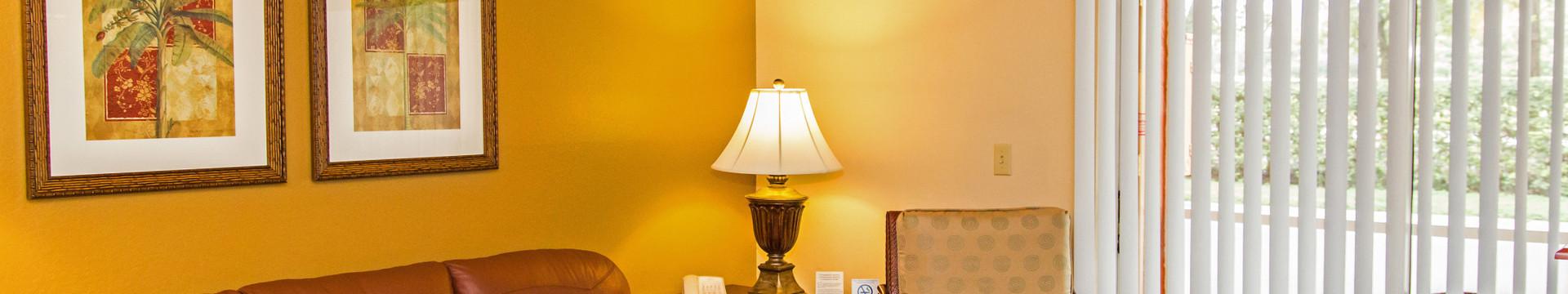 Two Bedroom Villa Suite at our Orlando Hotel | Villa Living Area