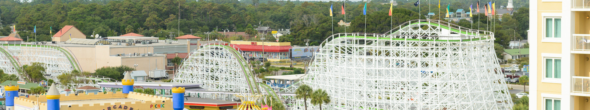 Amusement Park View Room at our Myrtle Beach Resort | Family Kingdom Amusement Park