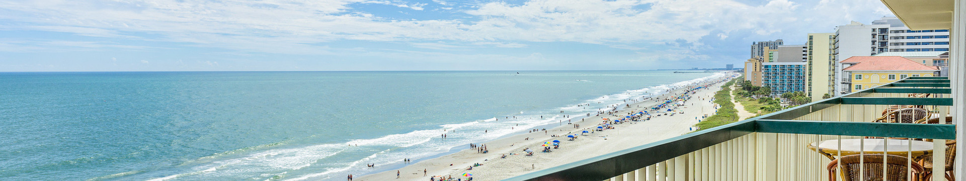 2 Bedroom Oceanfront Suite at our Myrtle Beach Hotel   Oceanfront Balcony