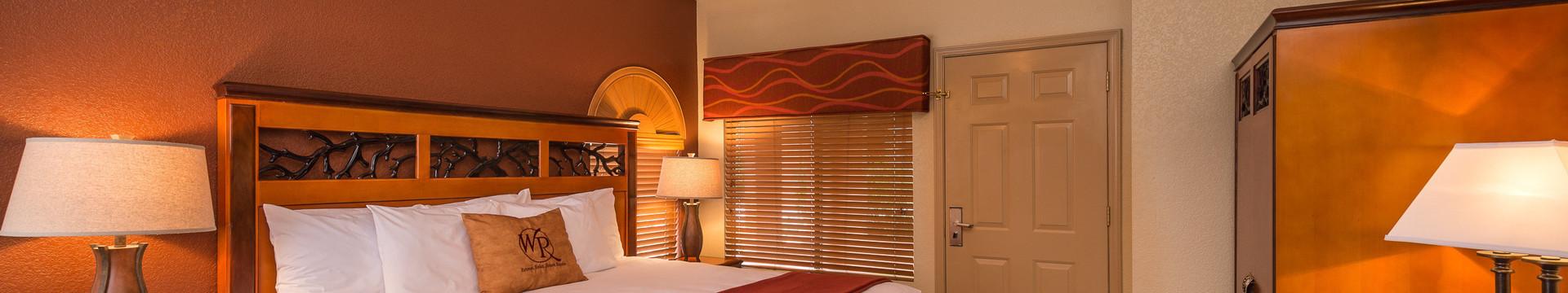 2 Bedroom Villa Suites at our Branson Resort | Interior of Villa Bedroom