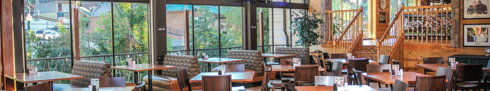 Inside the best restaurant in Gatlinburg, TN | Menu For Drafts Burger Bar | River Terrace Resort And Convention Center