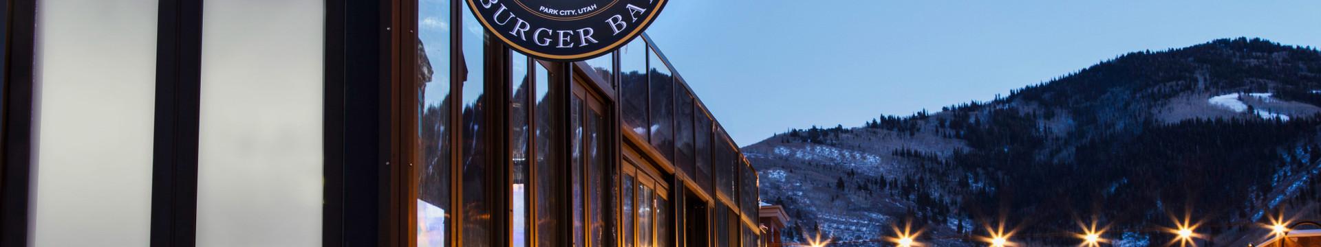 Outside the best burger bar in Park City | Menu For Drafts Burger Bar Park City | Westgate Park City Resort & Spa