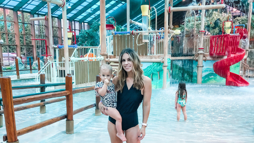 Mom and daughter at Wild Bear Falls Waterpark - Westgate Smoky Mountain Resort