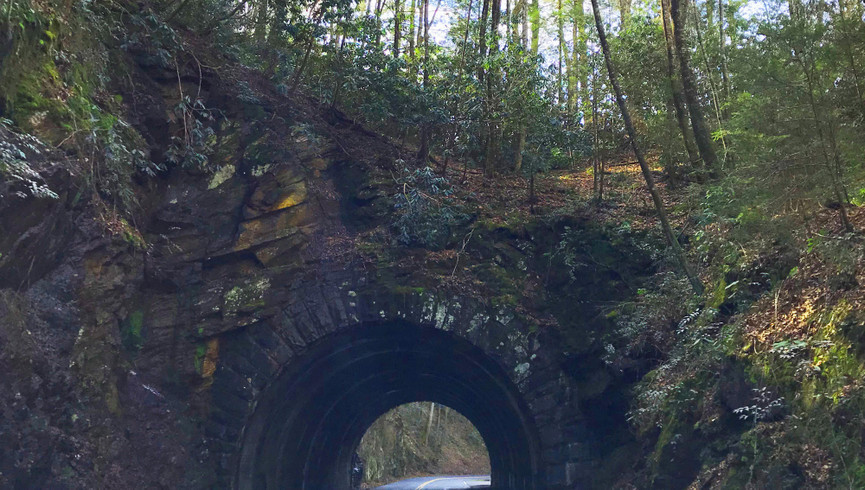 Gatlinburg road with tunnel - Westgate Smoky Mountain Resort