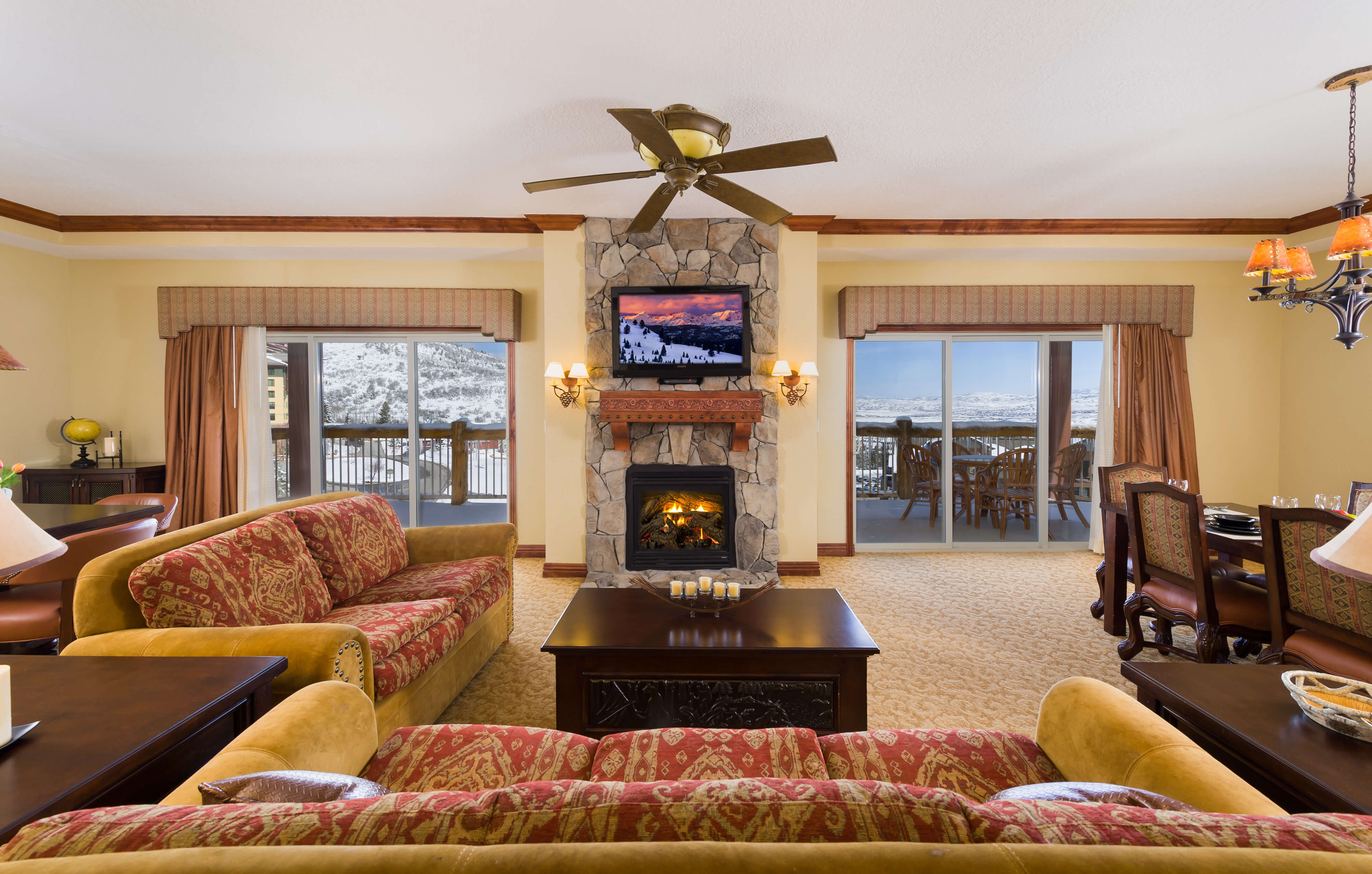Wedding Accommodations In Park City - Living Room of Park City Villa
