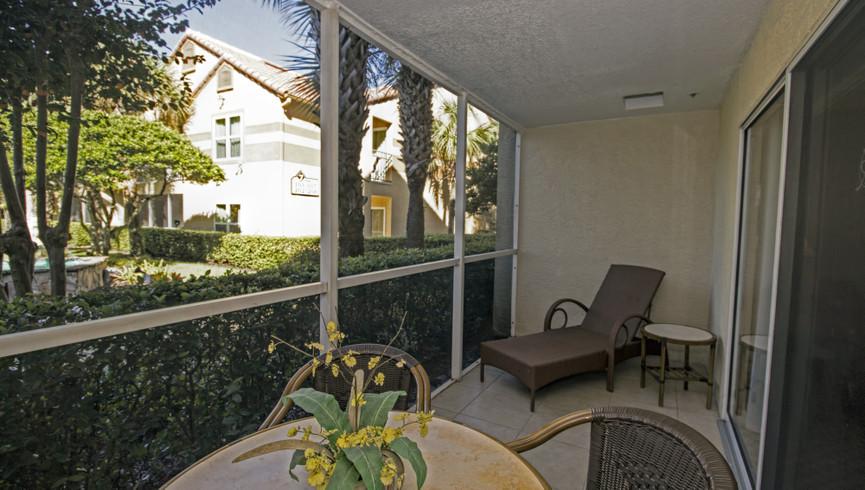 Balcony in the One Bedroom Villa | Westgate Blue Tree Resort