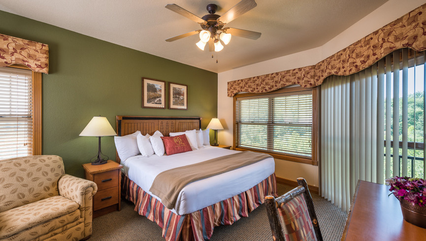 Bedroom in the One-Bedroom Grand Villa | Westgate Branson Woods Resort