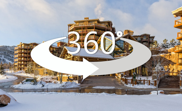 Exterior of Park Cirty with 360 virtual tour logo | Westgate Park City Resort