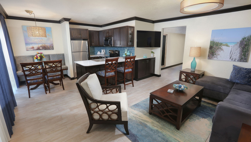 Indoor Living Area Of Westgate Cocoa Beach Resort Suite