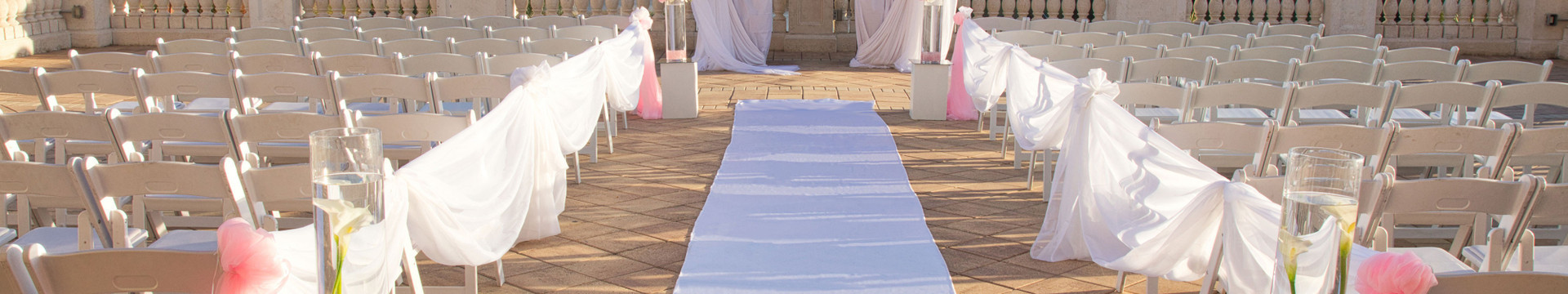 Outdoor Kissimmee Weddings - Town Center Balcony wedding ceremony setting