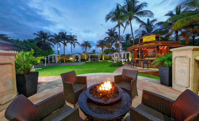 Fire Pit and Cabanas at Westgate South Beach Resort