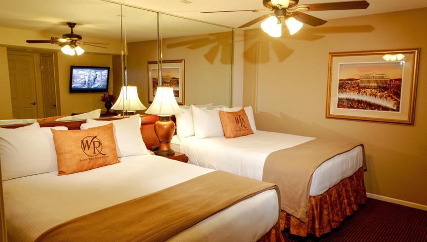 Bedroom in the Two-Bedroom Deluxe Villa | Westgate Flamingo Bay Resort