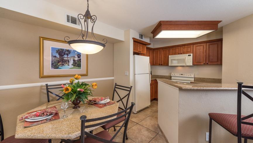 Kitchen in the Two-Bedroom Deluxe Villa | Westgate Flamingo Bay