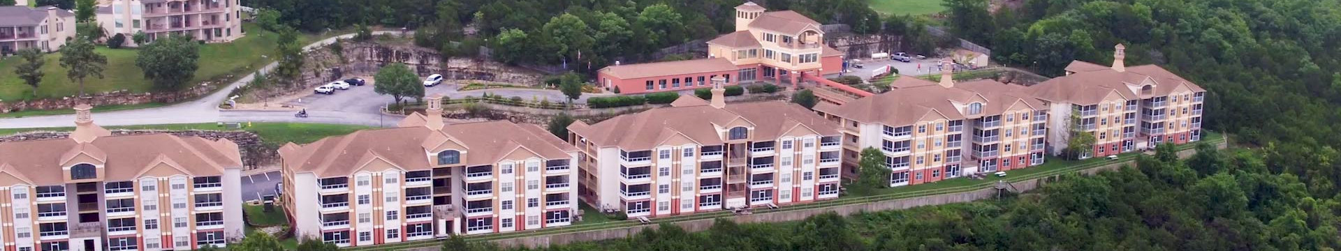 Overview Branson Table Rock Lake Resort at Emerald Pointe | Resort Building Overlooking Table Rock Lake