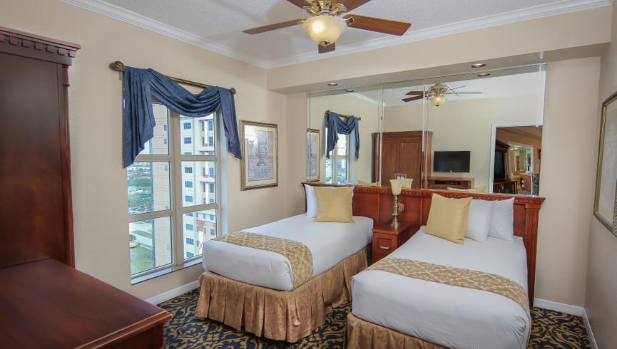 Bedroom in the Two-Bedroom Deluxe Villa | Westgate Palace Resort