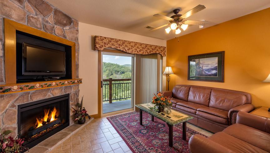 Living Area in the One Bedroom Villa | Westgate Branson Woods Resort