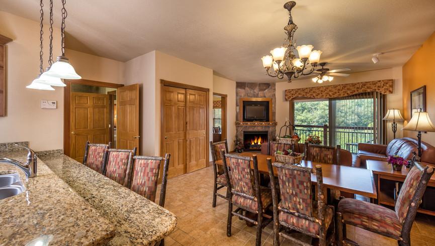 Living Area in the One-Bedroom Grand Villa | Westgate Branson Woods Resort