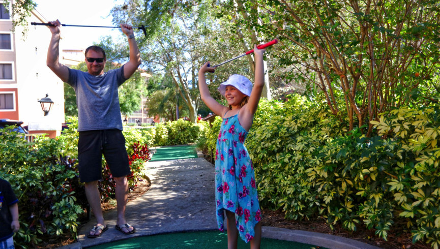 Family Mini Golf Adventure for the Whole Family with Pirates Mini Golf at Westgate Lakes Resort & Spa