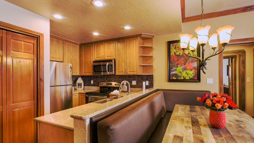 Kitchen in the Signature Two Bedroom Villa | Westgate Park City Resort & Spa