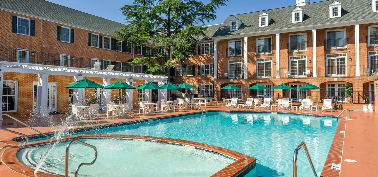 The Seasonal Outdoor Pool in Williamsburg, VA is the perfect place to relax and unwind at Westgate Historic Williamsburg Resort after a fun day experiencing history in one of America's most historically significant destinations.