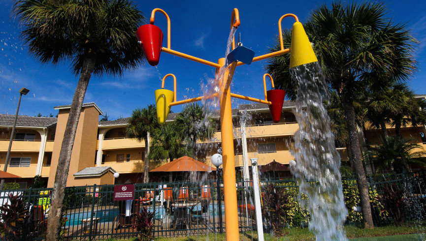 Splash Pad at one of our leisure hotels close to Seaworld Orlando FL | Westgate Leisure Resort | Westgate Resorts