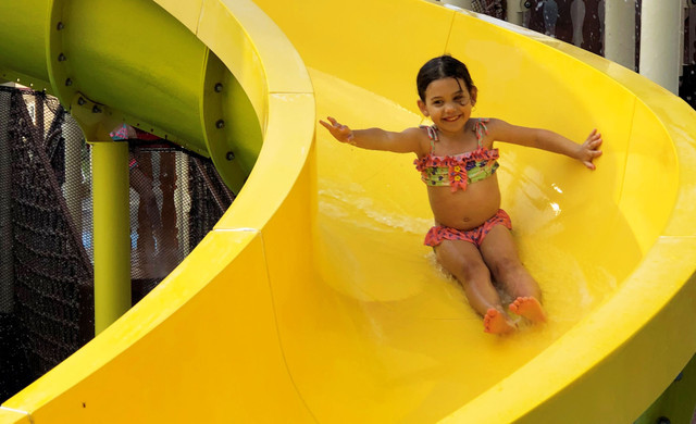 Shipwreck Island Water Park Kissimmee | Kid on Tube Slide