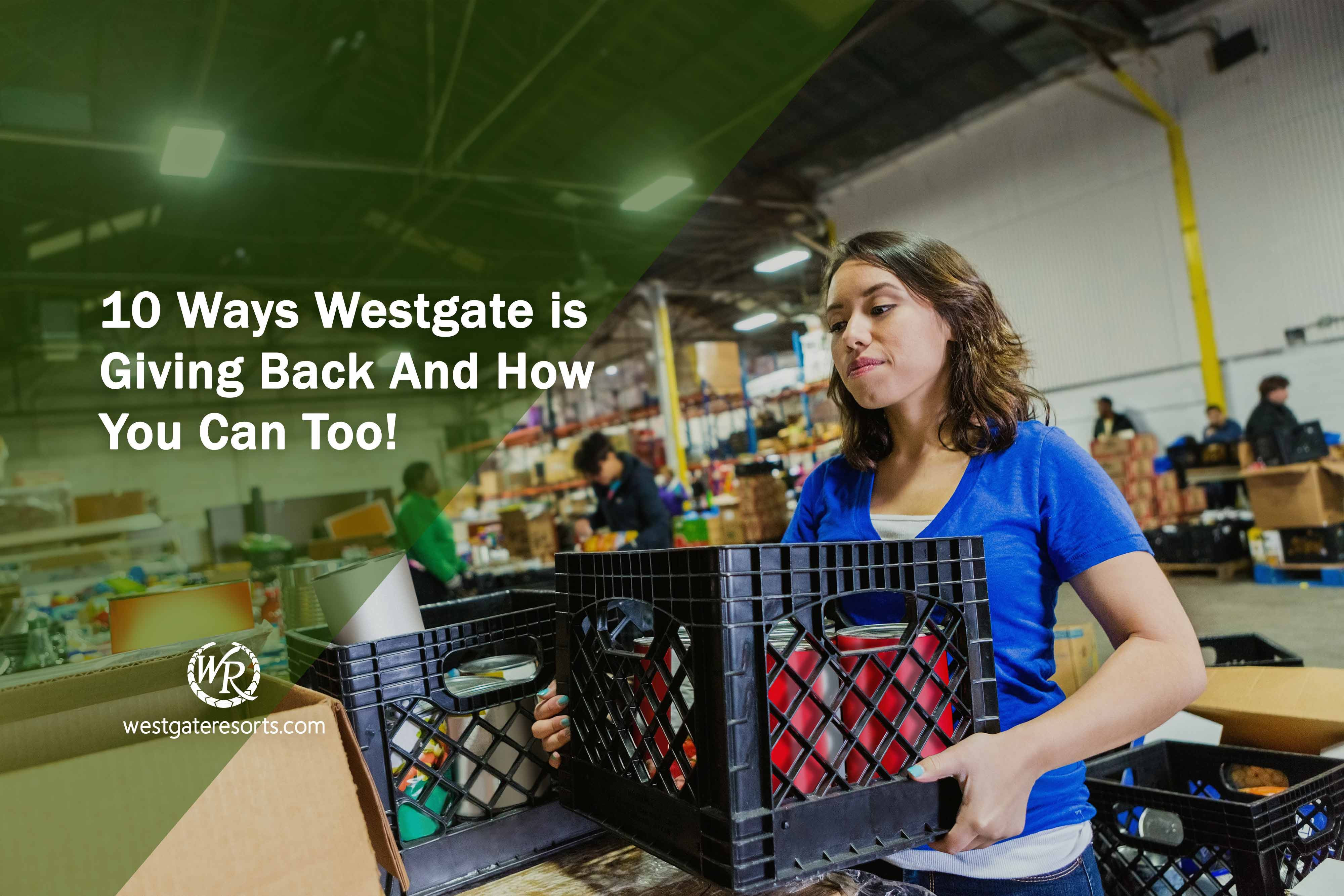 10 Ways Westgate is Giving Back And How You Can Too! | Westgate Travel Blog