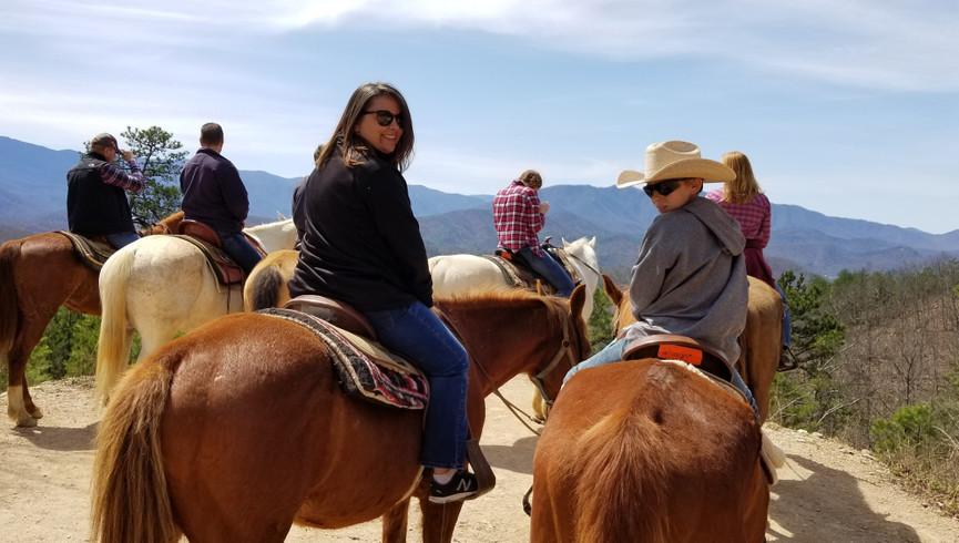 People horseback riding - Westgate Smoky Mountain Resort