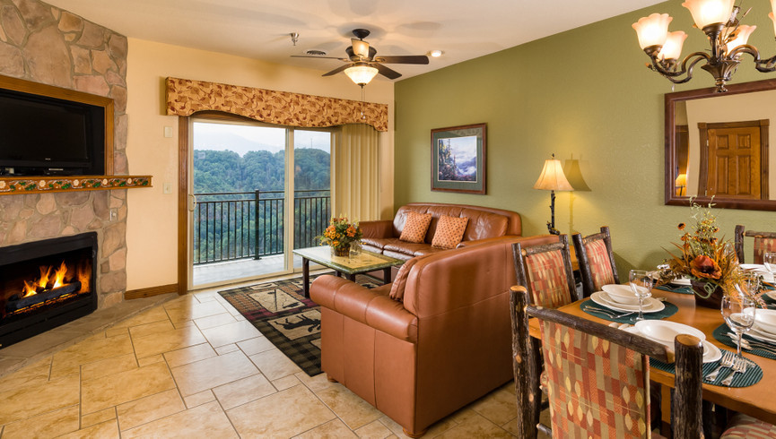 Gatlinburg Resort near the Smoky Mountains | Living Area